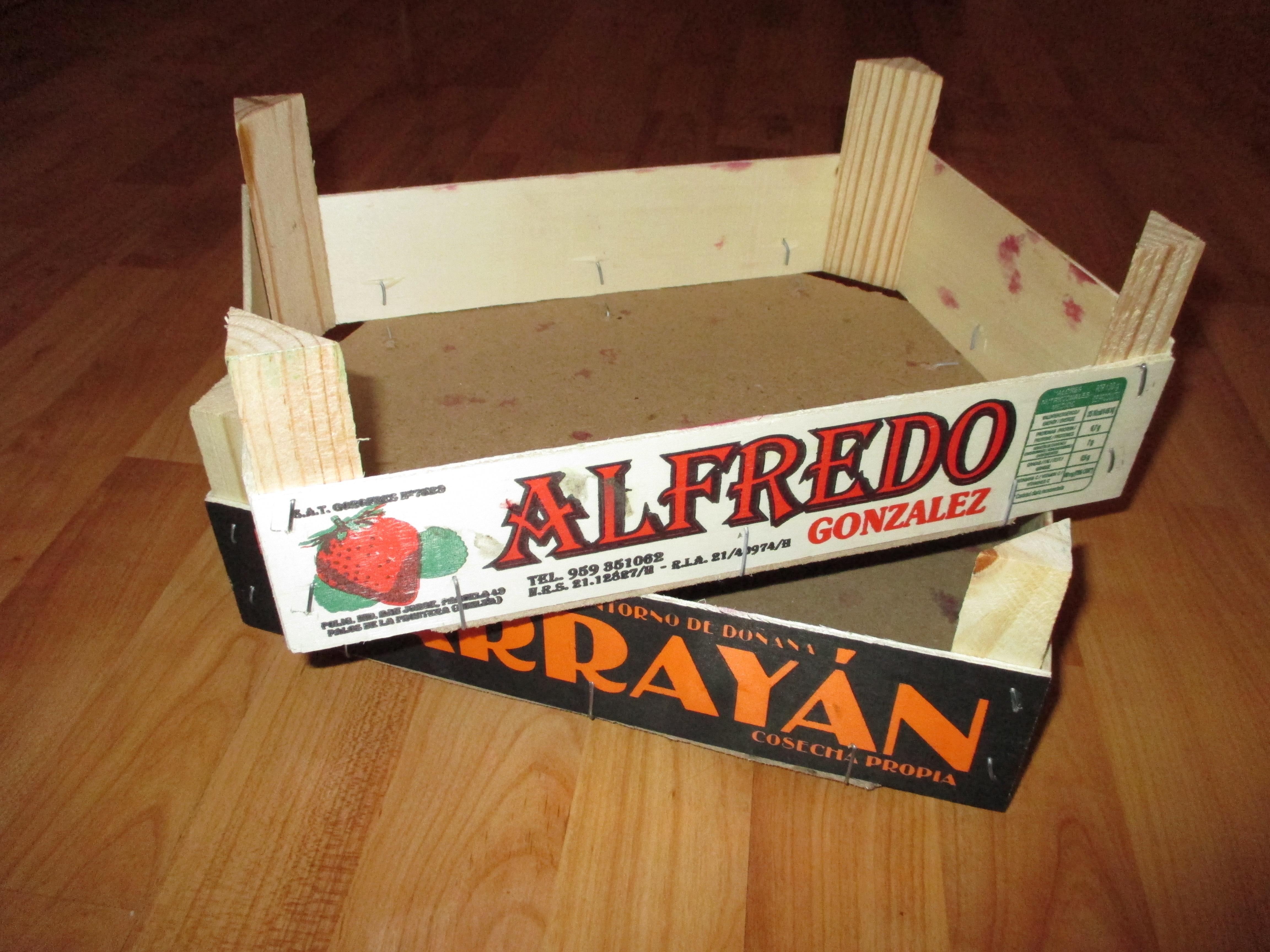 Forrando cajas de fruta con tela yo no soy una princesa - Forrar cajas de carton con telas ...