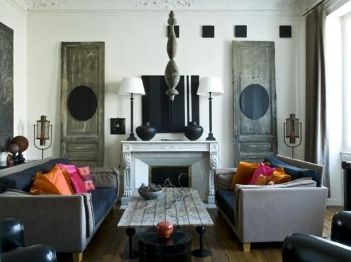 cabeceros y cuadros con puertas antiguas yo no soy una princesa. Black Bedroom Furniture Sets. Home Design Ideas